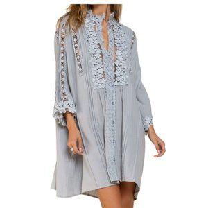 POL Dress Woven Cotton Mystic Grey Small